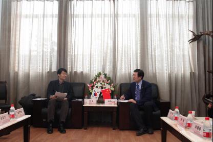 韩中科学技术合作中心代表团来访 促进合作交流