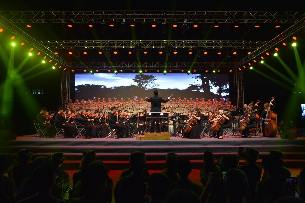 青春告白祖国 新生《长征组歌》交响音乐会举办