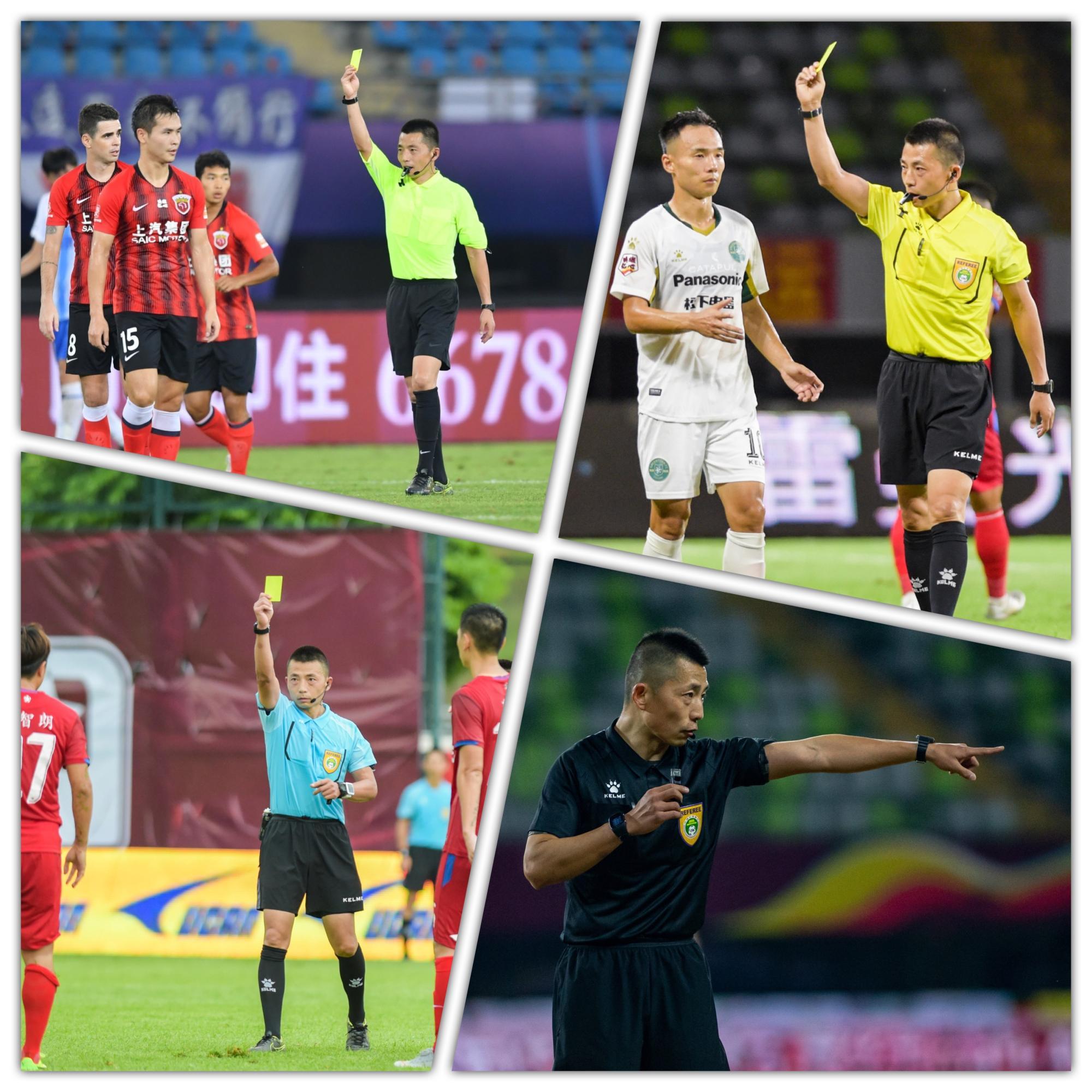 西安电子科技大学体育部教师张龙执裁中超联赛